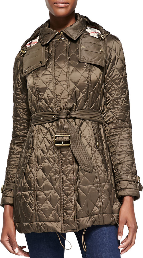 Burberry Burberry Brit Finsbridge Long Quilted Coat Where To Buy