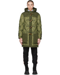 Burberry Green Recycled Nylon Diamond Quilted Coat