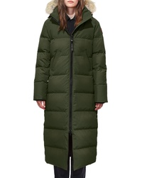 Canada Goose Mystique Regular Fit Down Parka With Genuine Coyote