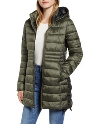 Halogen Side Lace Up Hooded Coat