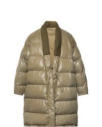 VISVIM Yukata Oversized Wool Trimmed Quilted Nylon Down Coat