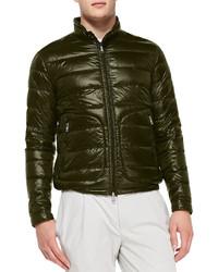Acorus puffer moto jacket olive medium 153619