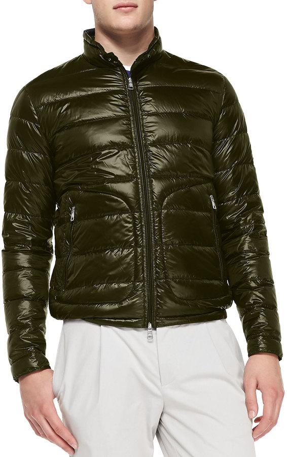 ... Moncler Acorus Puffer Moto Jacket Olive ...