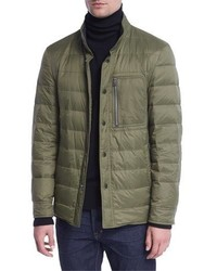 Tom Ford Down Shirt Jacket Green