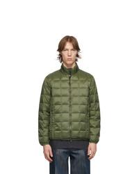 TAION Green Down Basic U Neck Puffer Jacket