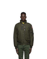 Parajumpers Green Down Masterpiece Fire Bomber Jacket