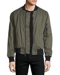 Jet puffer bomber jacket army green medium 815288