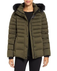 Andrew Marc Kelly Convertible Down Jacket With Genuine Fox Fur Trim