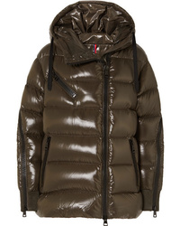 Moncler Liriope Quilted Glossed Shell Down Jacket