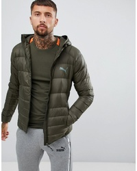Puma Packable Hooded Jacket In Green 85162115