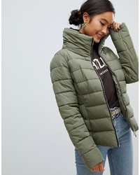 Miss Selfridge Padded Jacket In Khaki