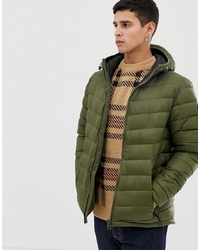 Esprit Puffer With Hood In Khaki