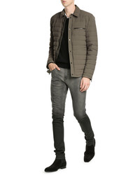 Vince Quilted Down Shirt Jacket