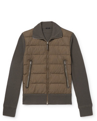 Tom Ford Shell Panelled Merino Wool Down Jacket