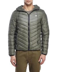 Winchester Hooded Earphones Puffer Jacket