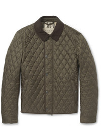 Olive Quilted Barn Jacket