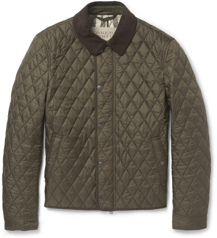 Burberry Brit Corduroy Collar Quilted Jacket | Where to buy & how ... : mens quilted barn jacket - Adamdwight.com
