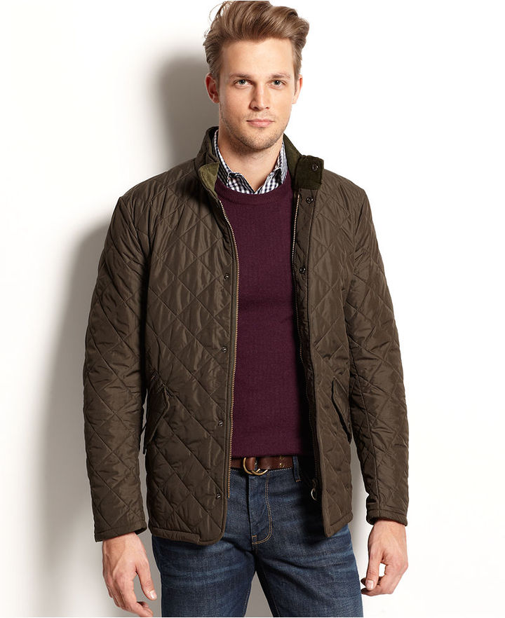 barbour mens quilted jacket chelsea