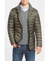 Sundance water resistant quilted down blazer jacket medium 111409