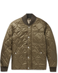Olive Quilted Bomber Jackets for Men | Men's Fashion