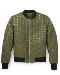 Anzevino getty gold squares bomber jacket medium 145649