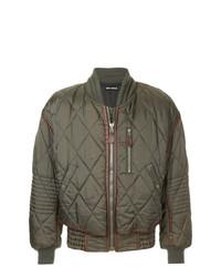 Contrast trim quilted bomber jacket medium 7825269