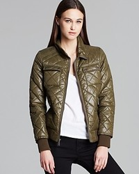 DKNY Avril Quilted Bomber Jacket