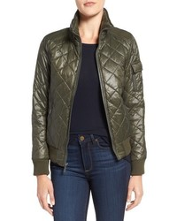 French Connection Quilted Bomber Jacket
