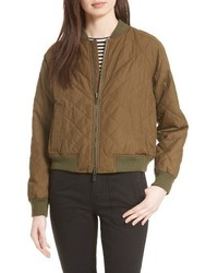 Quilted bomber jacket medium 4014999
