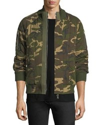 Quilted camouflage cotton bomber jacket medium 4985801