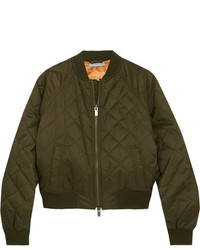 Quilted shell bomber jacket army green medium 5084212