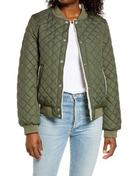 UGG Reversible Quilted Faux Shearling Bomber Jacket