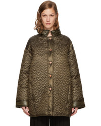 See by Chloe See By Chlo Green Short Quilted Bisou Coat