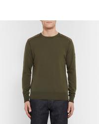 0ed12d79d9ee ... Belstaff Kerrigan Quilted Shell Trimmed Virgin Wool Sweater