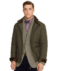 Olive Quilted Field Jacket