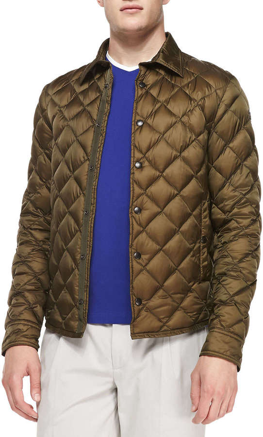 Moncler Frederic Diamond Quilted Jacket Olive Where To Buy How
