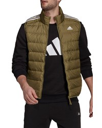 adidas Essentials Water Repellent Light Down Hooded Vest