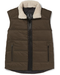 Belstaff Fyfield Shearling Trimmed Quilted Ripstop Gilet