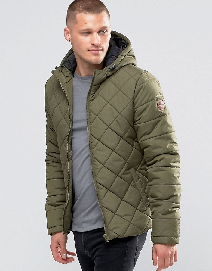 Blend of America Blend Hooded Quilted Jacket Ivy Green | Where to ... : quilted jacket green - Adamdwight.com