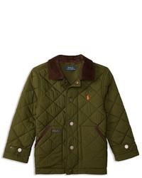 Ralph Lauren Childrenswear Boys Corduroy Collar Diamond Quilted Jacket Sizes 2 7
