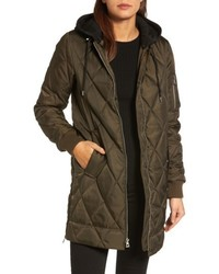 Vince Camuto Quilted Jacket With Detachable Hood