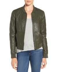 Zoey quilted leather bomber jacket medium 751140