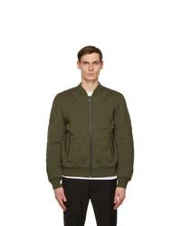 Diesel Green Wool K Chryso Bomber Jacket
