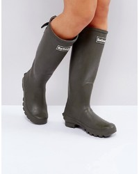 Barbour Jarrow Rubber Welly Boot With Slide Strap Adjuster