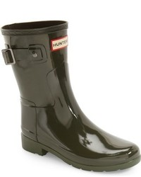 Refined short gloss rain boot medium 963133
