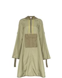 Ganni Aspen Hooded Anorak Coat