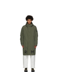 Moncler Green And Black Coffre Coat