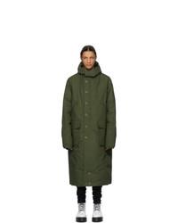 R13 Green Down Anorak Puffer Jacket