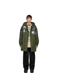 Raf Simons Green Patches Parka