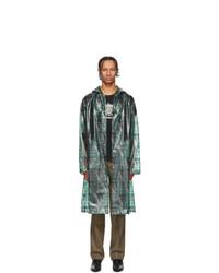 Undercover Green Valentino Edition Printed Long Rain Coat